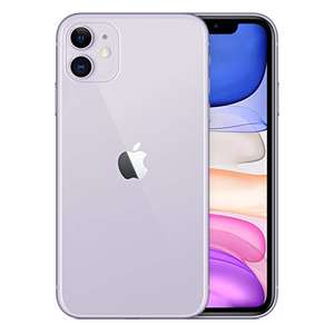 Amazon: Apple iPhone 11, 64GB, Morado (Reacondicionado)