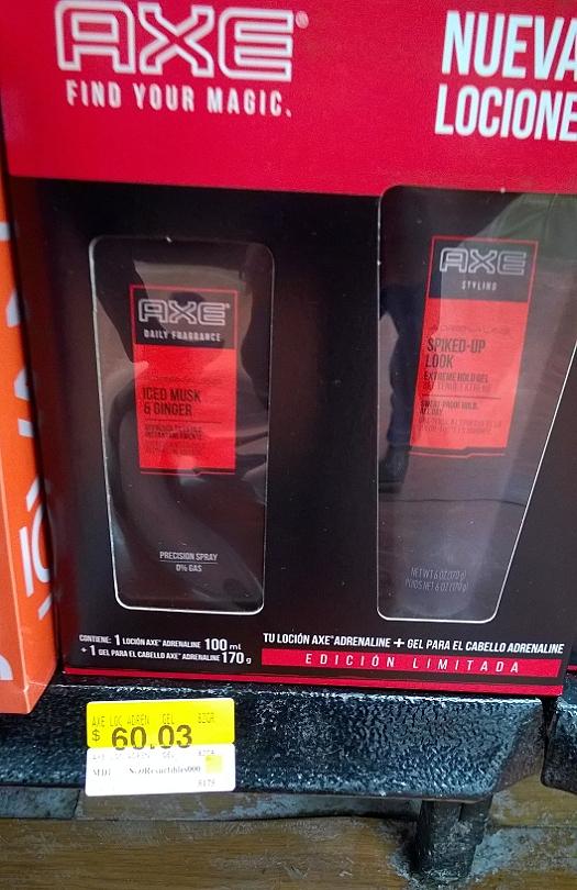 Walmart: Paquete Axe locion+gel a $60.03 y paquete Mr. Musculo 84.03