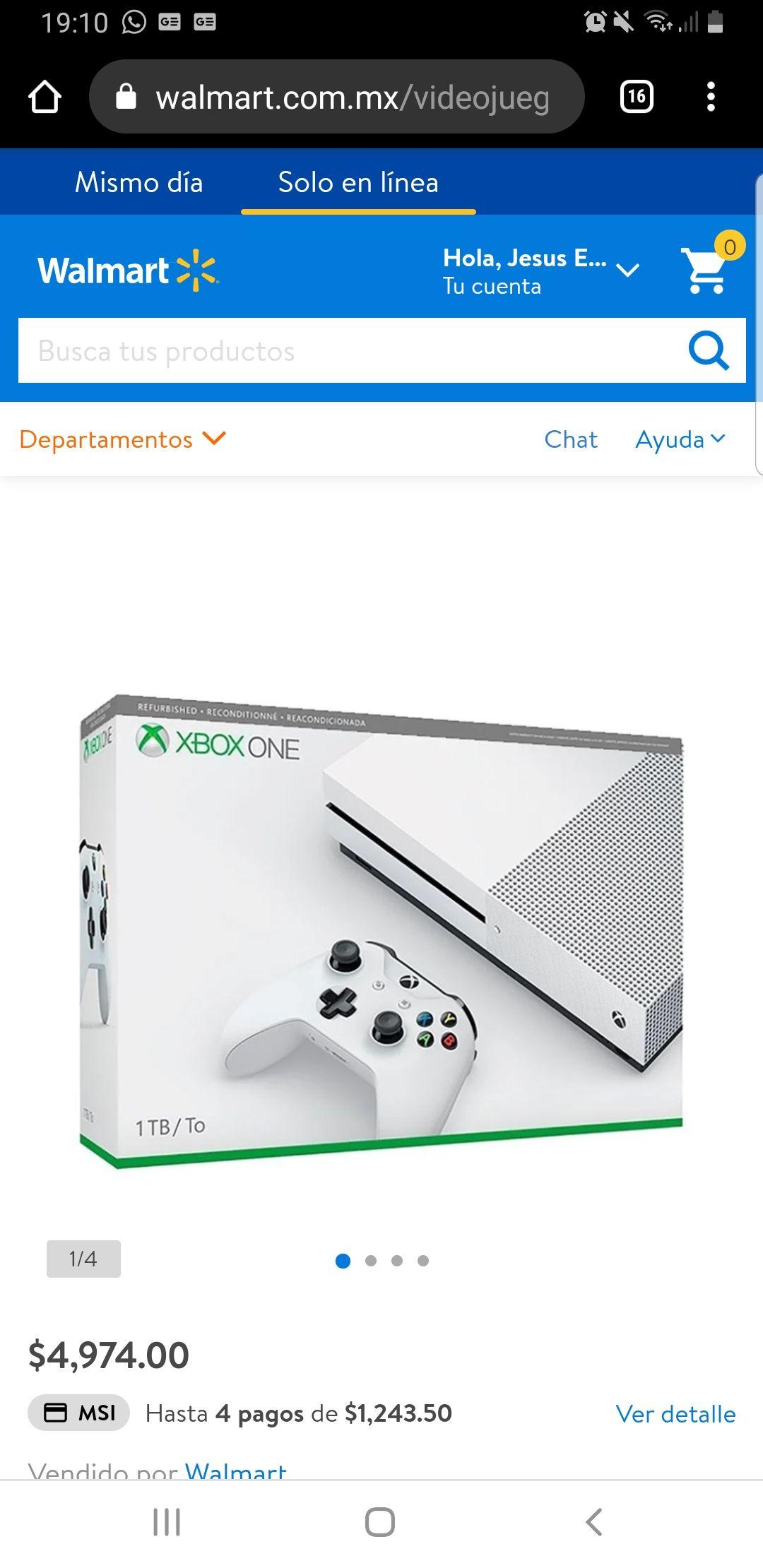 Walmart: Xbox one s reconstruido