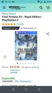 Amazon: Final Fantasy XV Royal edition PS4