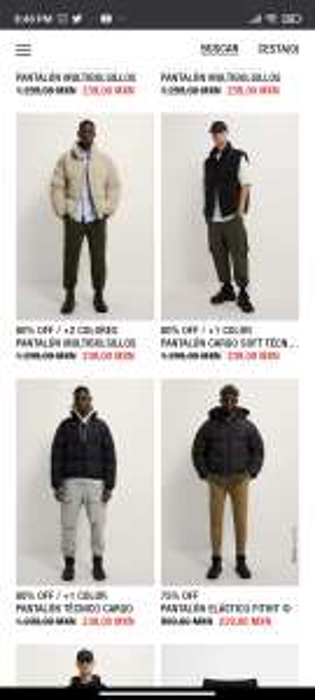 Zara pantalones de rebaja en 239 pesos