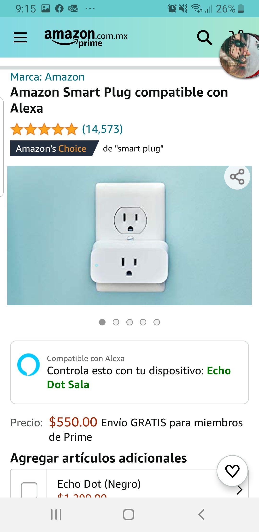 AMAZON: Smart Plug compatible con Alexa