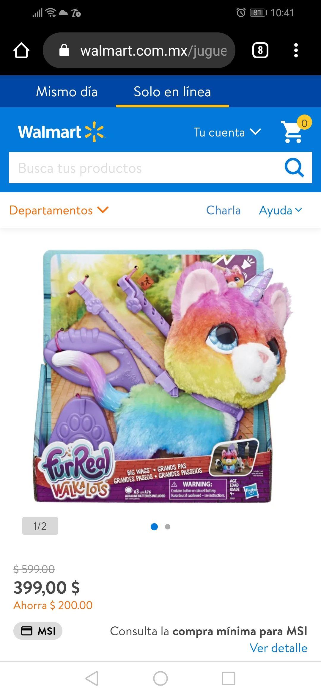 Walmart: Hasbro FurReal Gato Unicornio