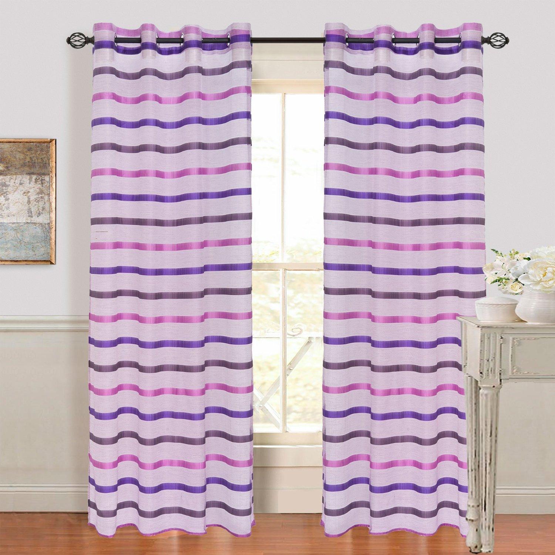 Amazon: Cortinas color violeta con blanco a $88