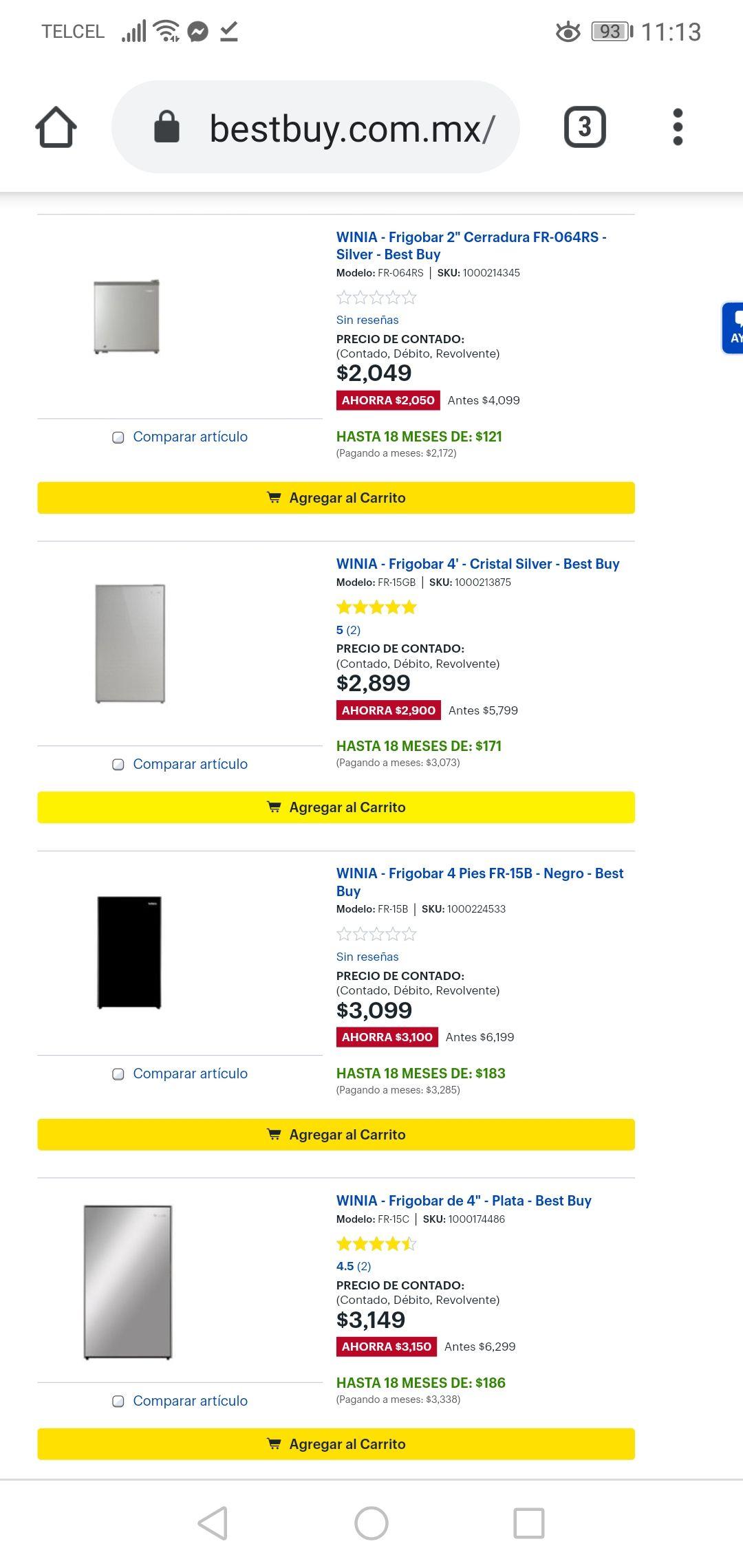 Best Buy: Recopilación de Frigobares desde los $2049 a $3600