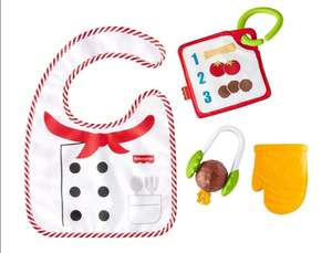 Amazon: Fisher-Price Kit De Regalo Chef Espagueti Mordedera para bebés de 3 Meses en adelante