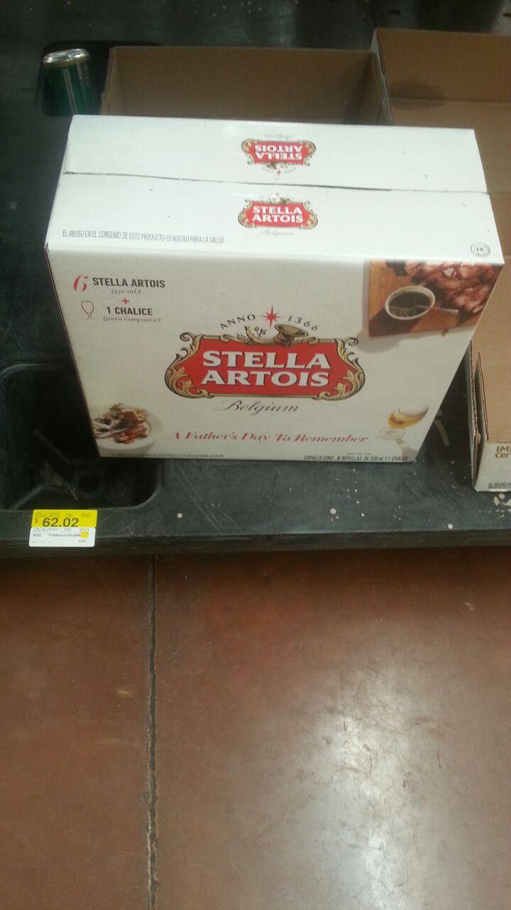Walmart: Six de Stella Artois + 1 chalice en segunda liquidación y más