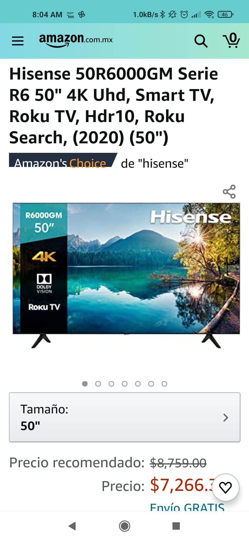 """Amazon, Hisense r6 50"""" 4k hdr10"""