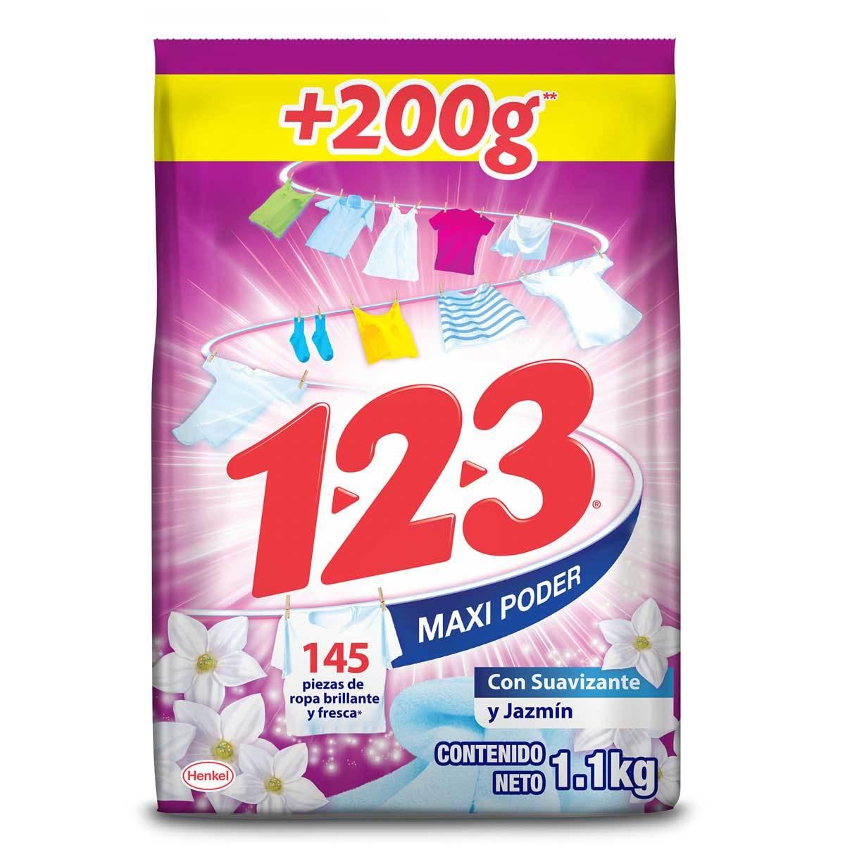 Chedraui, Detergente en Polvo 123 de 1.1kg