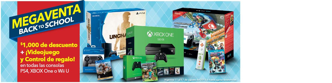 Best Buy: Consolas con $1,000 de descuento mas regalo