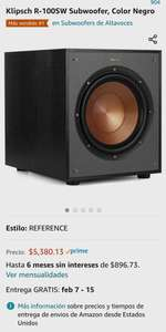 Amazon: Subwoofer Klipsch de 10""
