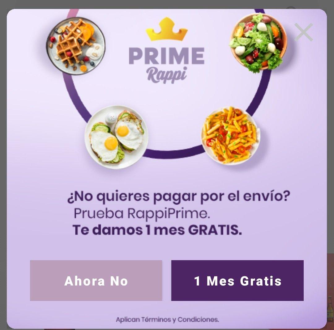 Rappi Prime Gratis CDMX