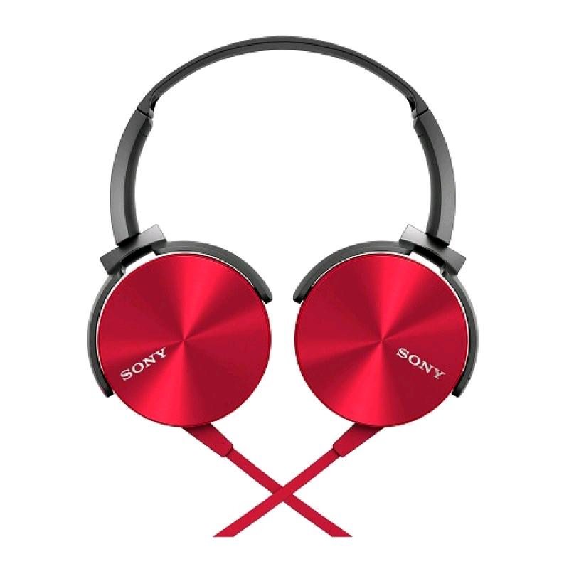 Best Buy en línea: audífonos - 20% Sony - Audífonos Mdr-Xb450Ap s - Rojo a $559