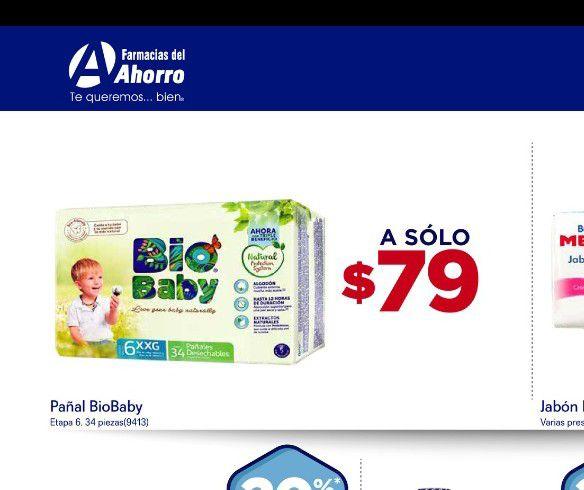 Bio baby 34 piezas 79 farmacia del ahorro solo fin de semana