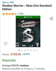 Amazon Shadow warrior xbox one