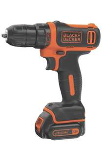 Amazon: Black + Decker BDCDD12C - Taladro inalámbrico (12 V)