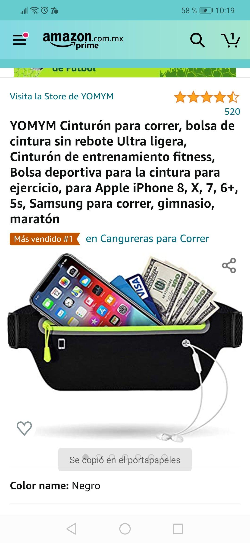 Amazon: Cinturon para correr