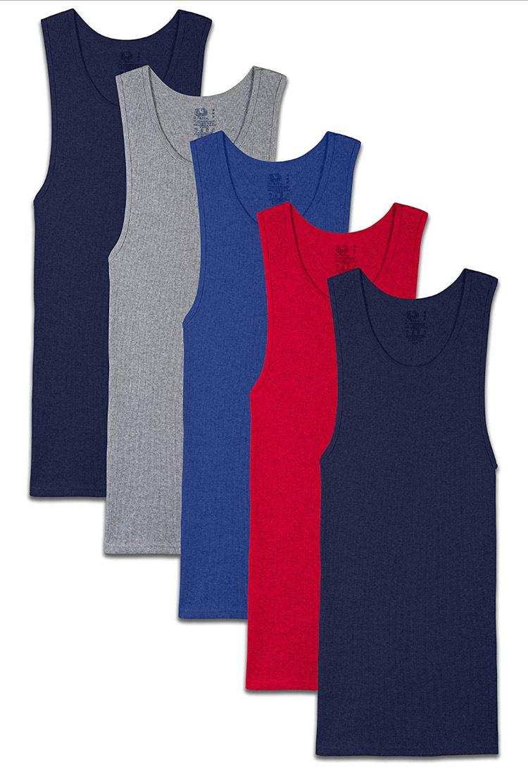 Amazon: Fruit of the Loom Surtido de Camisetas Tipo A. Para Hombre (Talla grande) (Pack de 5)