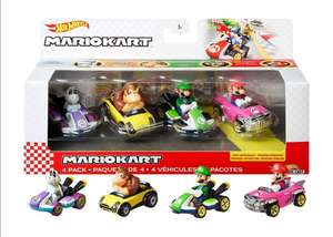 Amazon: Hot Wheels Mario Kart 4-PK #1