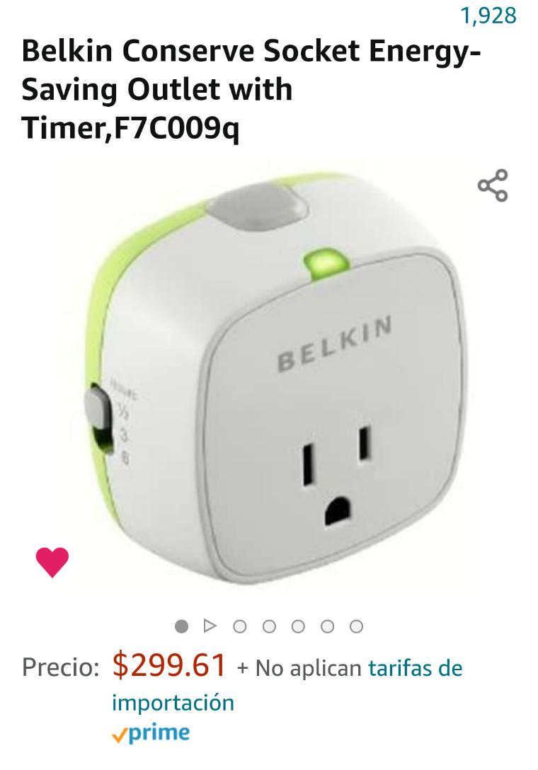 Amazon: Belkin Energy-Saving with Timer