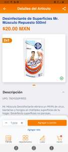 Chedraui: 2 x 1 Limpiador desinfectante mr. Músculo 500ml.