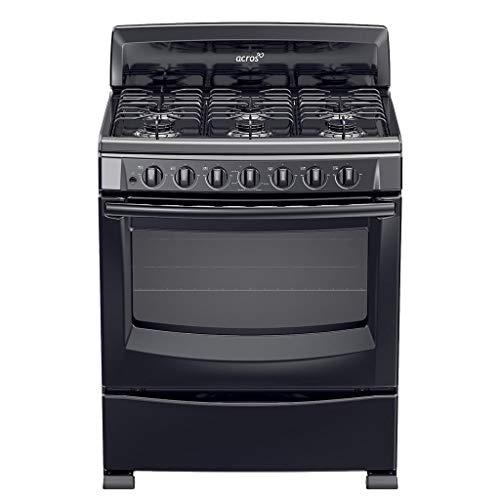 """Amazon: estufa acros color negro 30"""""""