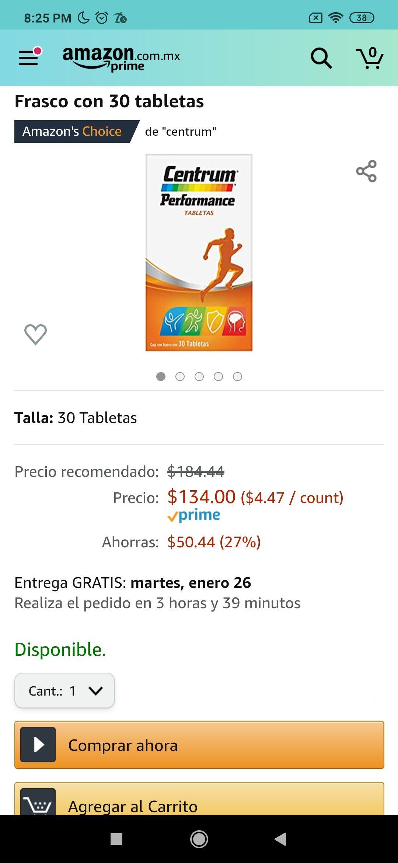 Amazon: Centrum 30 tabletas