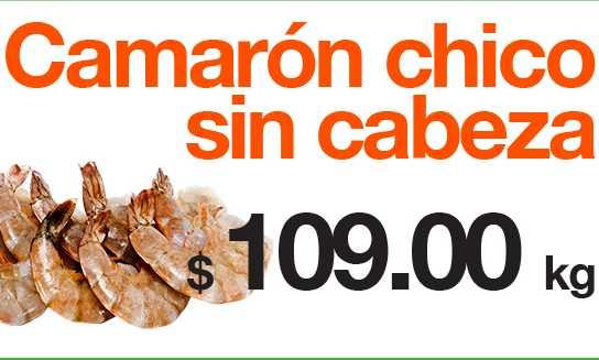 La Comer: camarón chico sin cabeza $109, carne para asar $84 y más