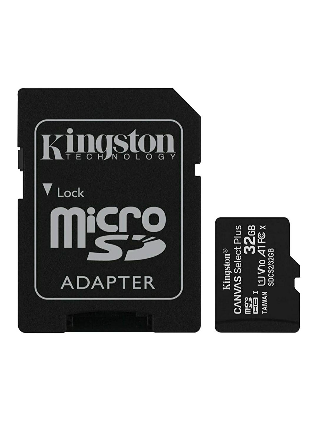 Amazon: Kingston MicroSDHC Select Plus 32GB Clase 10, UHS-I, U1, V10