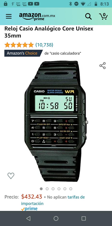 Amazon: Bonito Reloj, Casio calculadora Retro, todo coleccionista dé Relojes debería, tener uno.