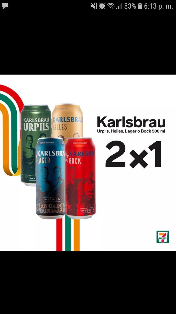 Cerveza Karlsbrau 2x1 en seven eleven