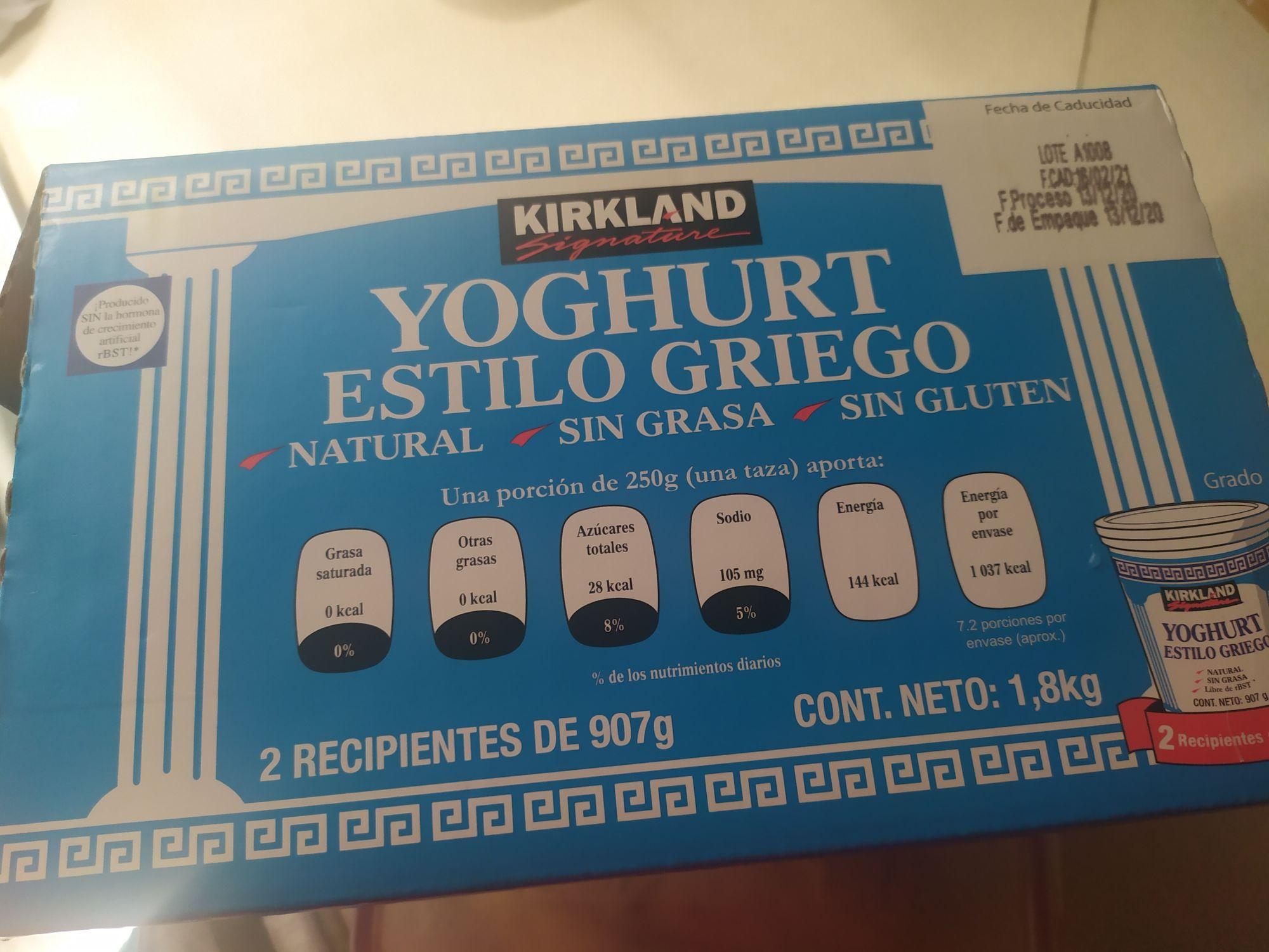 Costco: Yoghurt griego Kirkland