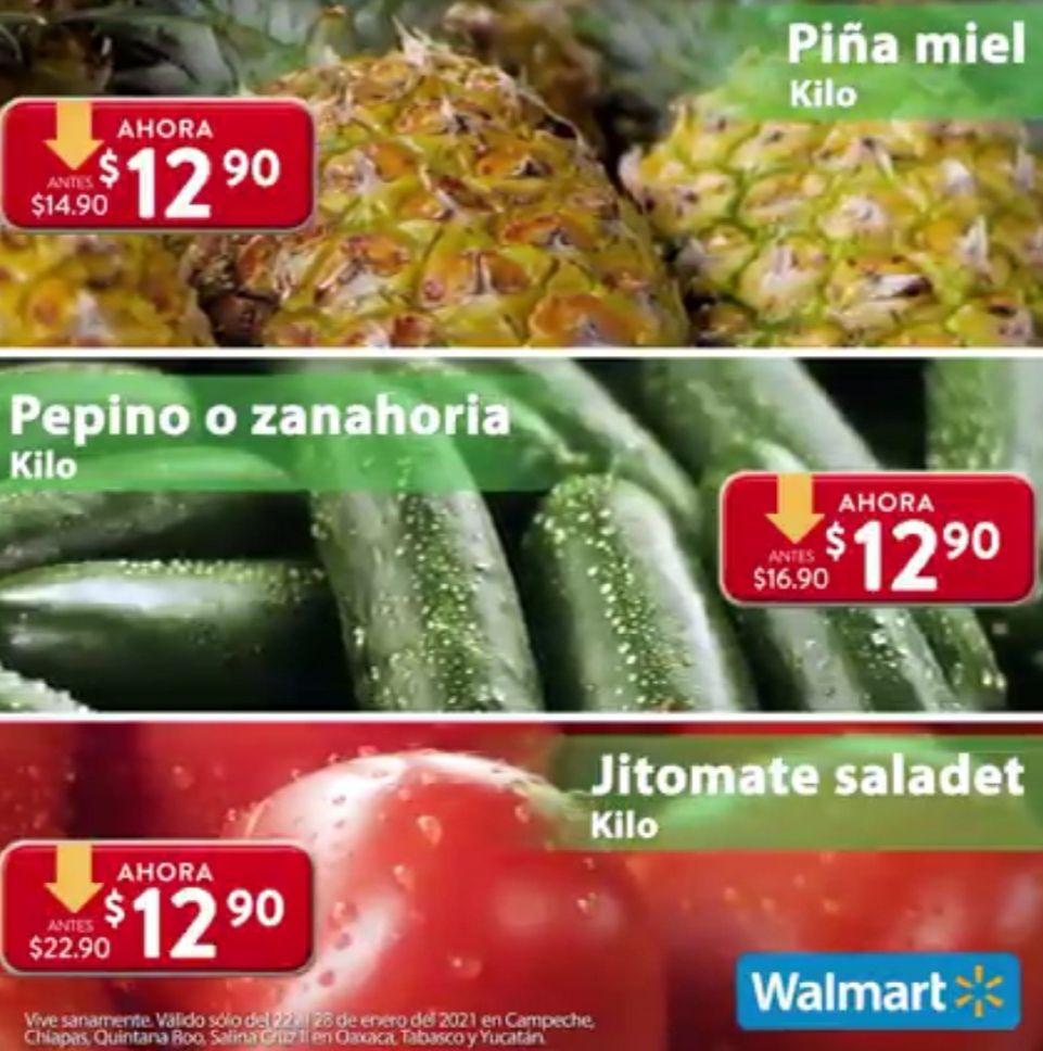 Walmart: Semana de Frescura al Jueves 28 de Enero (plazas donde no aplica el Martes de Frescura)
