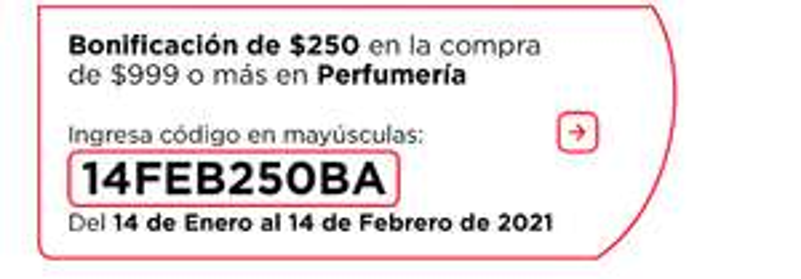 Bodega Aurrera: Bonificacion de $250 pesotes por cada $999 en perfumería para que huelas a éxito.