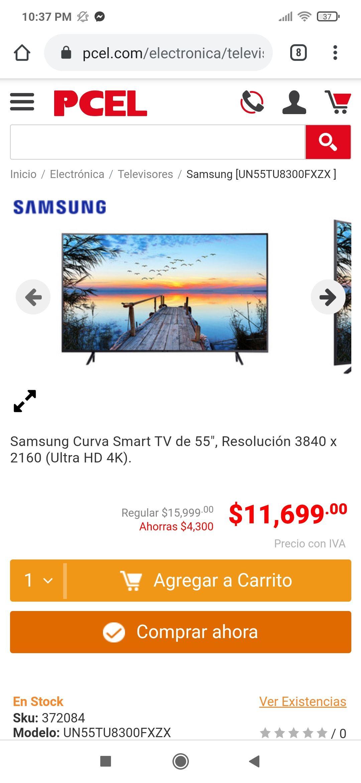 PCEL: Pantalla curva Samsung un55tu8300