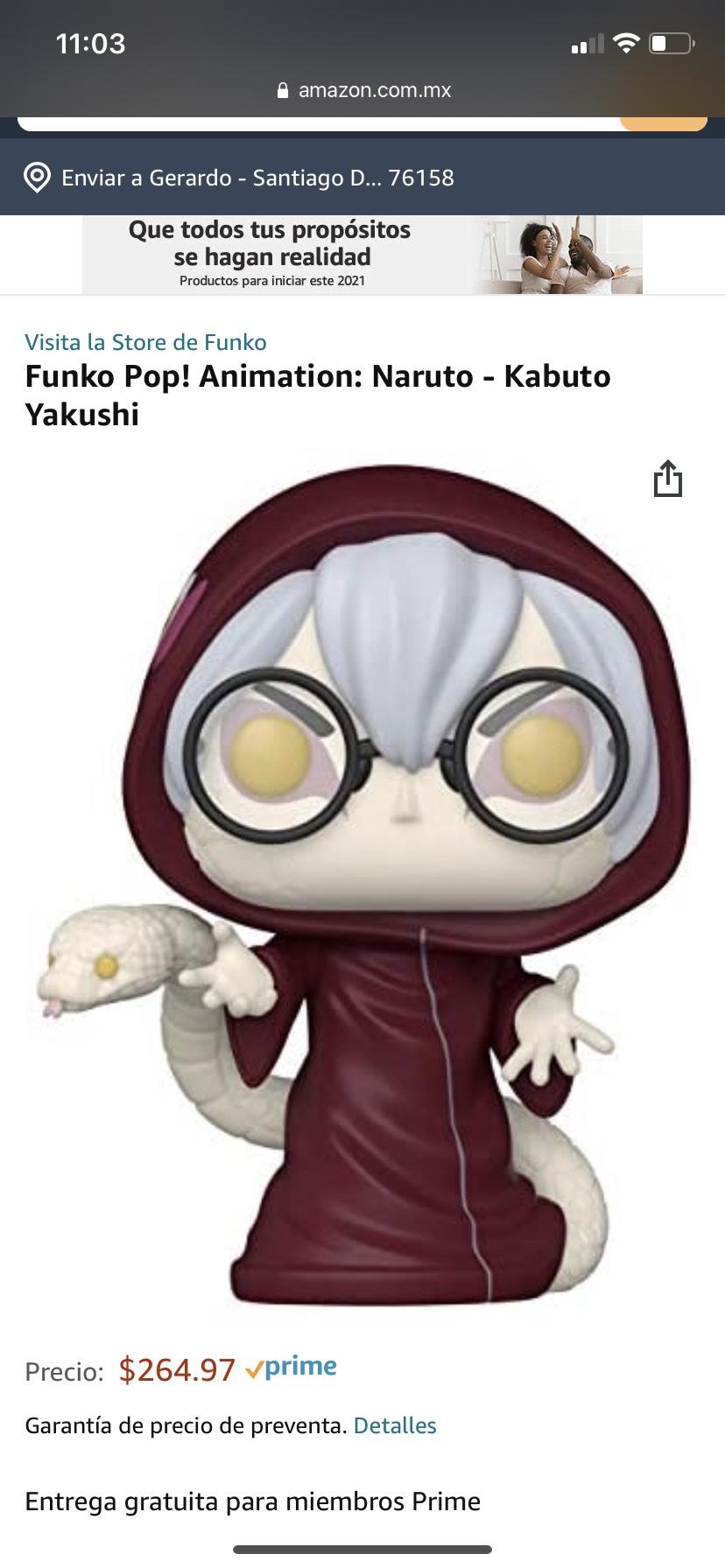 Amazon: Funko Pop! Animation: Naruto - Kabuto Yakushi