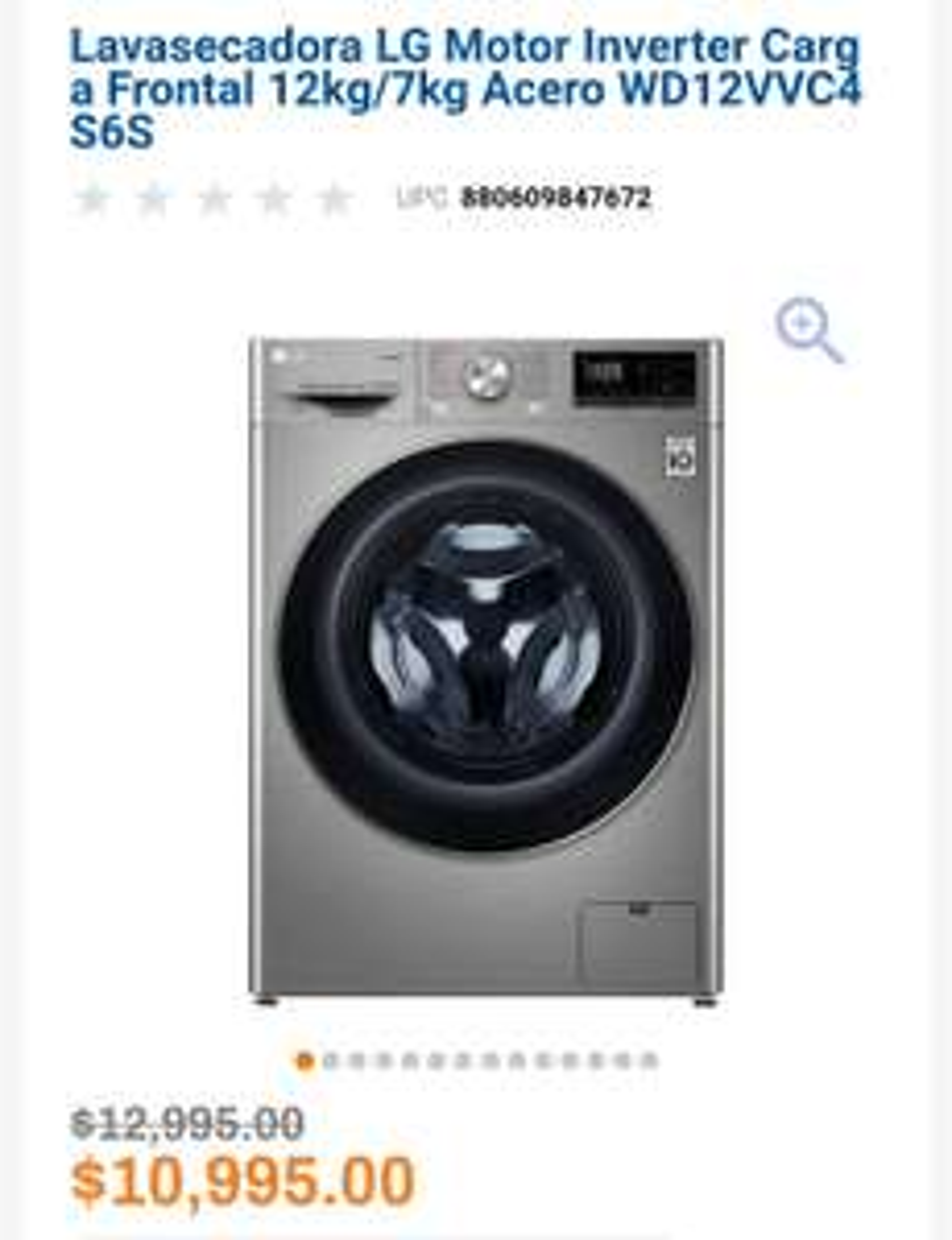 Chedraui: Lavasecadora LG 12kg/7Kg
