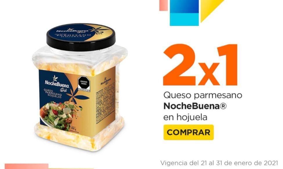 Chedraui: 2 x 1 en queso Nochebuena Deli Parmesano Hojuelas 450 g.