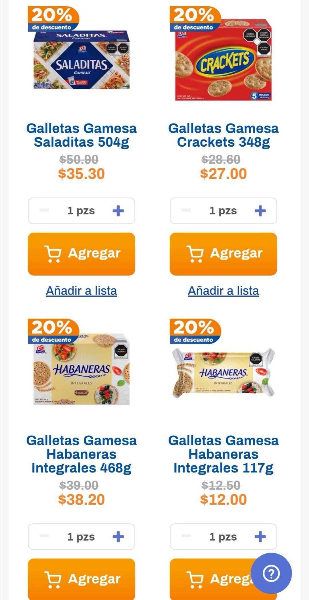 Chedraui: 20% de descuento en galletas Gamesa seleccionadas