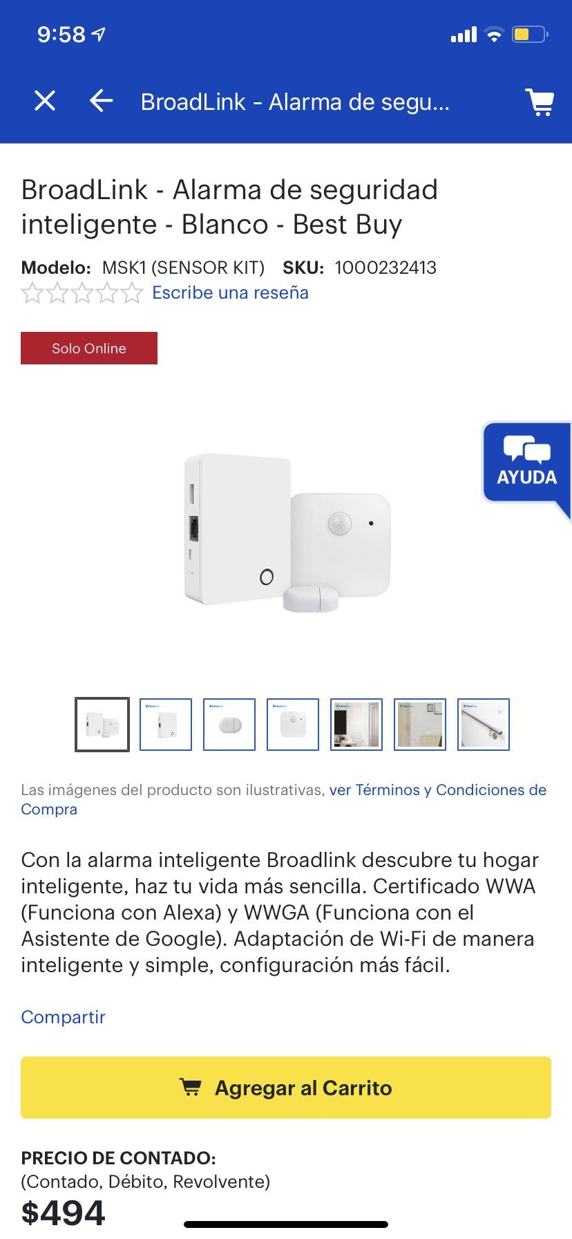 Best Buy: Alarma de Seguridad Inteligente (Alexa)