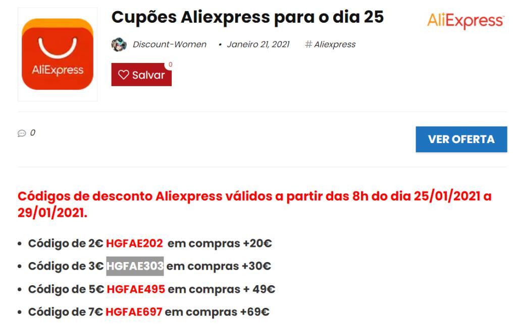 Cupones Aliexpress hasta 174 pesos