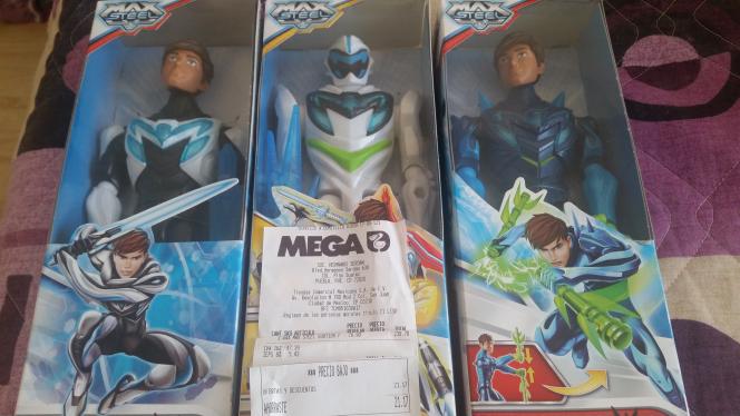 Comercial Mexicana Mega: figuras Max Steel a $79.90