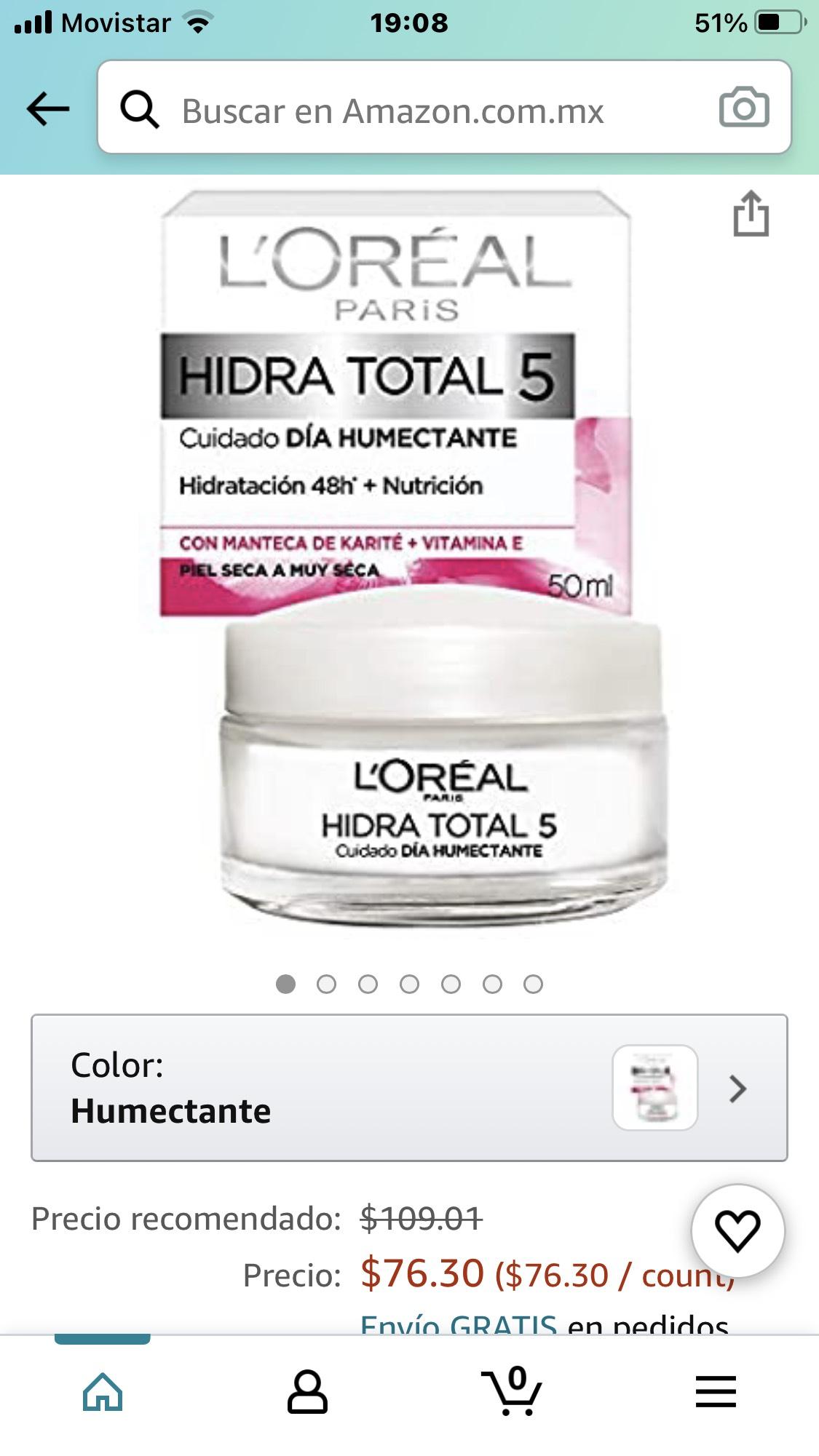 Amazon: Crema hidratotal L'Oréal