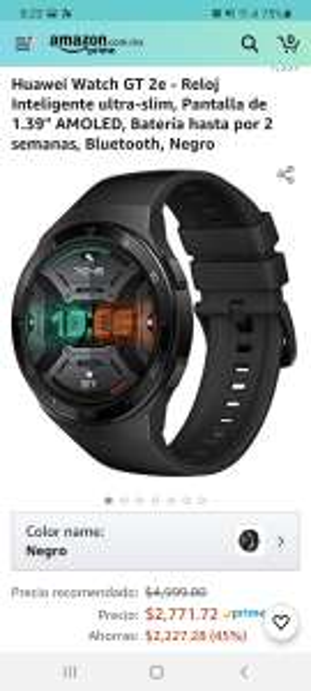 Amazon: Huawei watch GT 2e