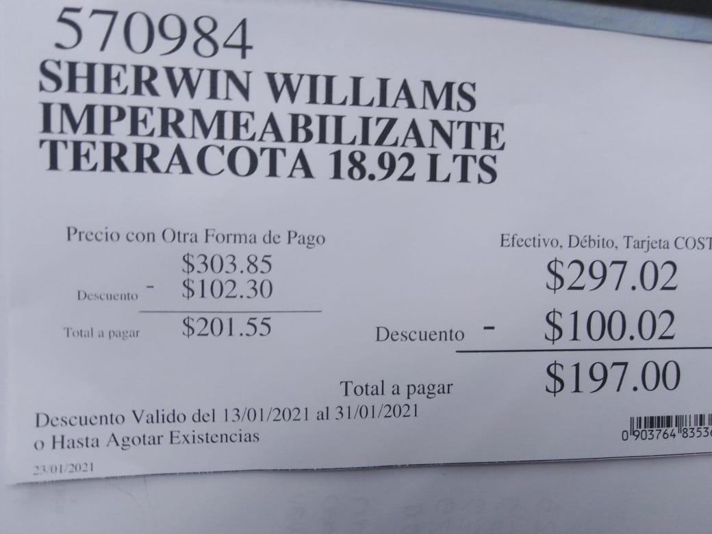 Costco Impermeabilizante Sherwin Williams