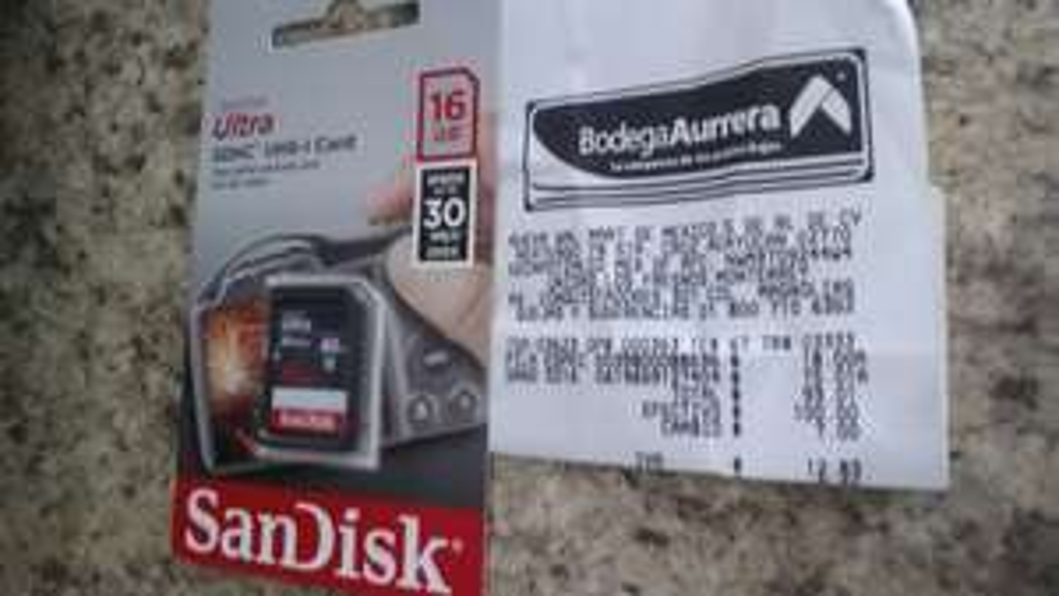 Bodega Aurrerá: memoria SD Sandisk 16GB a $75.01