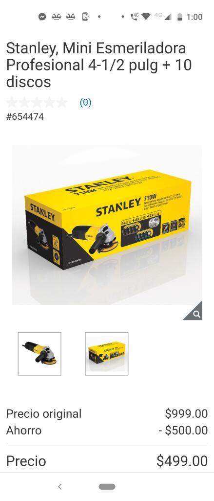 Costco Mini Esmeriladora Stanley