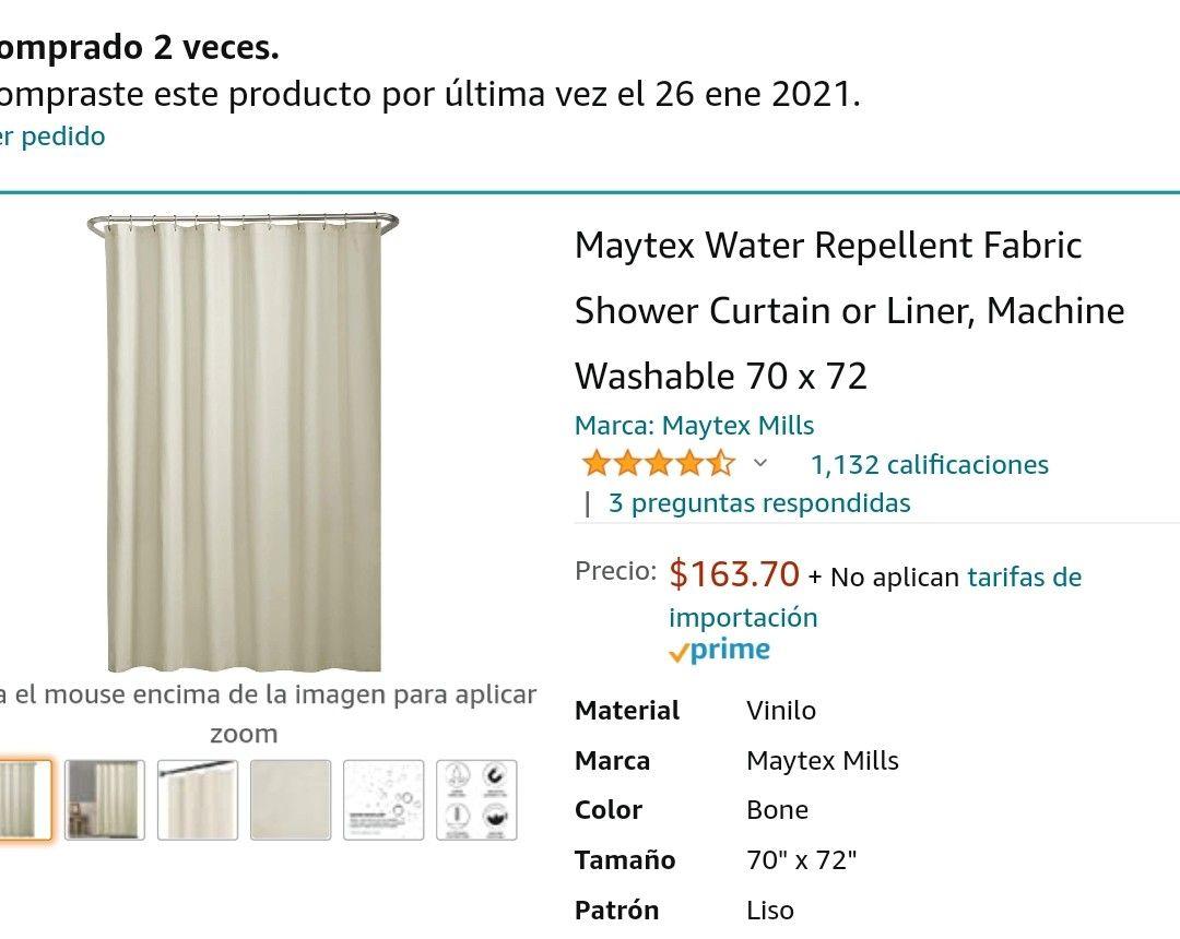 Amazon, Cortina para baño lavable