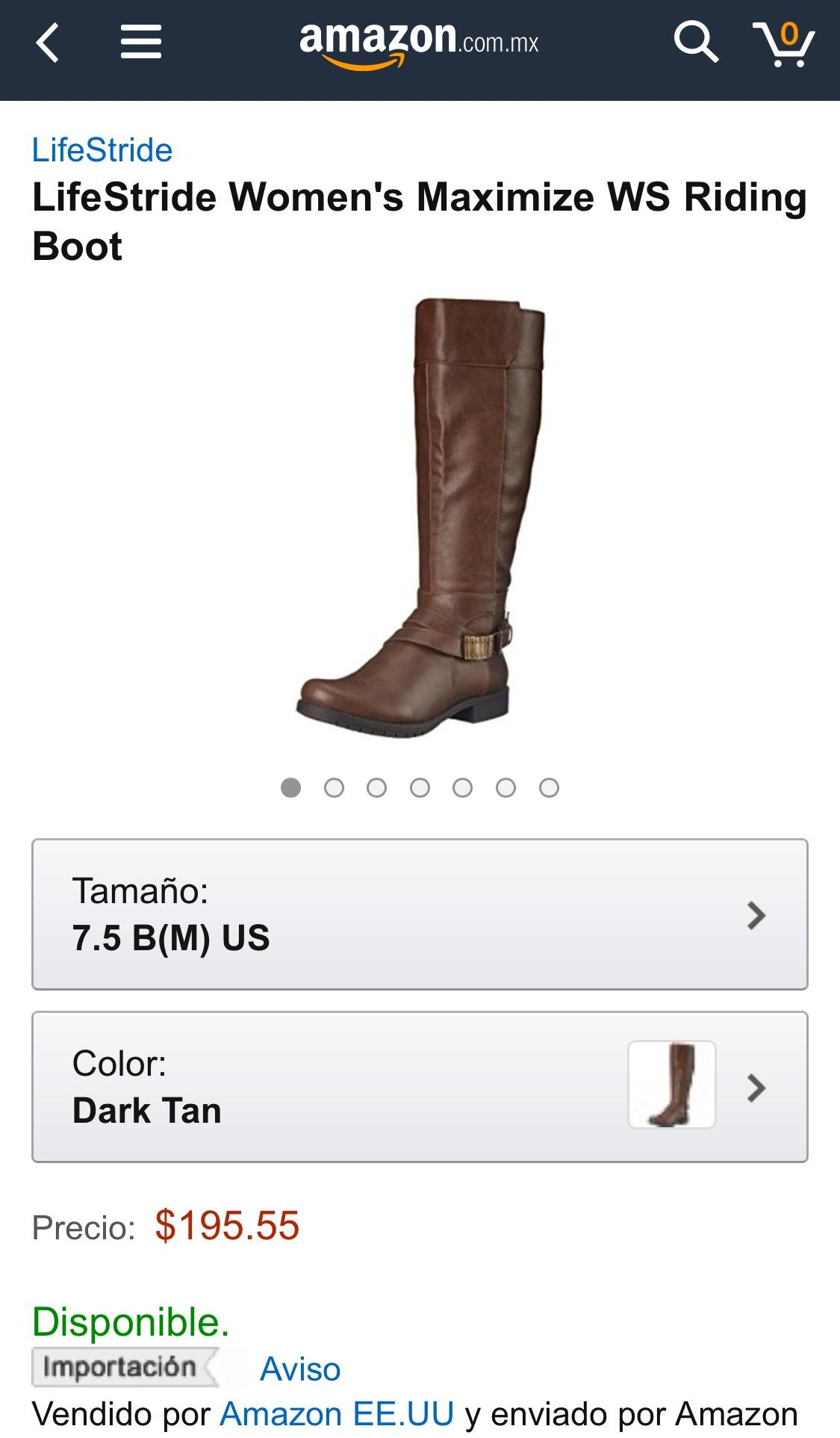 Amazon: Botas Lifestride para dama a $196 (solo talla 24.5 MX)