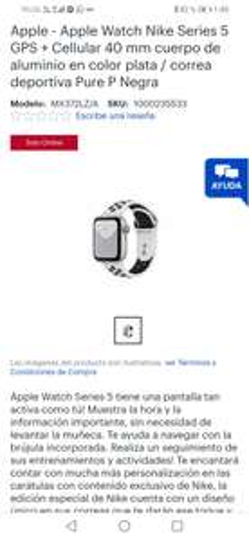 Best Buy: Apple Watch S5 GPS+celular